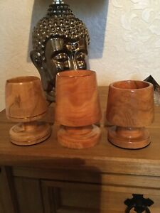 3 Handcrafted tea light holder