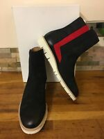 MAISON MARTIN MARGIELA Black & Red Suede Ankle Boots Size UK 9/EU 43 Sold Out!!!