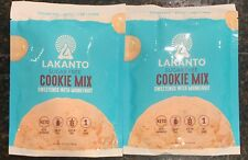2 LAKANTO Sugar & Gluten Free COOKIE MIX Sweetened With MONKFRUIT KETO 1 NetCarb