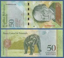Venezuela 50 bolivares 2015 UNC pick 92 J