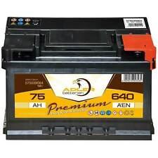Autobatterie 12 V / 75 Ah - 640 A/EN 57539 Adler ers. 63 65 66 70 72 74 77 80 Ah