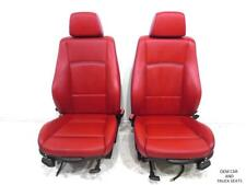 BMW X1 OEM CORAL RED NEVADA LEATHER SPORT FRONT SEATS 2013 2014 2015