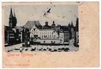 Ansichtskarte Gruss aus Nürnberg - Blick auf den Markt mit Marktständen - 1901