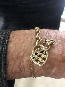 Women's Michael Hill 10K 417 Yellow Gold Heart Bracelet