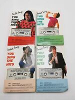 Pocket Songs You Sing Hits Cassettes Lot 4 Whitney Cher Eurythmics Bolton