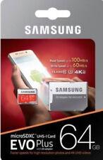 New Samsung 64GB Micro SD Card SDXC EVO Plus UHS I Class 10 TF Memory