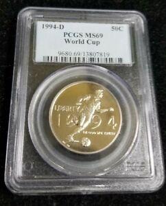 1994-D WORLD CUP TOURNAMENT Commemorative Half Dollar PCGS MS69