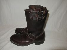 Amazing! Mens Frye Engineer motorcycle Boots in Dark Brown Antique (US Size 7)