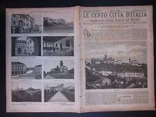 1893 CONEGLIANO Le Cento Città d'Italia Sonzogno Editore riccamente illustrato