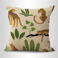 Us Seller- pillowcases home decoration summer plant jungle animal cushion cover