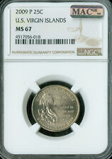 2009-P VIRGIN ISLAND QUARTER  NGC MAC MS-67 PQ RARE SPOTLESS .