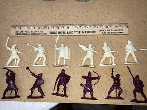 12 Rare Plastic Publius Grunswald  Knights Crusader Primitive Gun 54mm 1/32