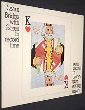SEALED Learn Bridge with Goren In Record Time Vinyl Mono LP CG 469 Fresca