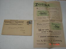 1880's A. Wilhelm Co. Reading, Pa Zanzibar Liquid Wood Filler Peters, Best, Pa