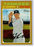 DJ LeMahieu 2020 Topps Heritage 5x7 Gold #415 /10 Yankees