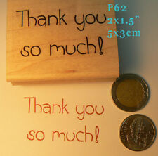 P62 Thank you so much! rubber stamp