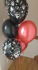 30 Pirate Range Pearlised, Helium Quality Latex Balloons with Curling Ribbon