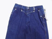 New Vtg Rockies Blue Jeans WESTERN IVY High Waist Denim Long Inseam Jr 3/4 24X33