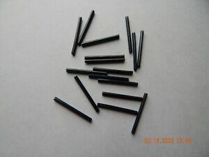 """ROLL PINS 1/8 x 1 1/2""""  CARBON STEEL. BLACK 20 PCS. NEW"""