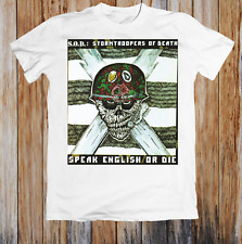 S O D Stormtroopers Of Death Speak English Or Die Unisex T Shirt S-234XL BC222