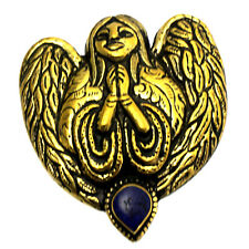 Praying Guardian Angel Pendant Lapis Brass Namaste Handmade Tibet Nepal PDS667A