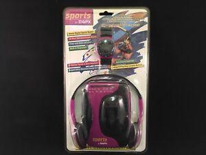 NIB Sports by GPX AM/FM Radio Cassette Player Stereo Walkman w Watch Model C3202