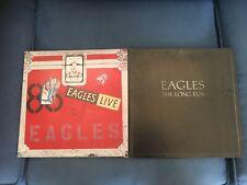 "Eagles ""Live"" and ""The Long Run"" LP Vinyl Record Album Both"