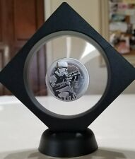 Storm Trooper 1 oz. 999 Silver Coin 2 dollar Niue Framed with stand Star Wars