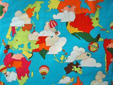 2009~ THE GOOD EARTH ~ alexander henry POP ART fabric retro 1960's world map