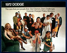 PROSPEKT BROCHURE 1972 Dodge Charger Challenger * * Coronet (USA)
