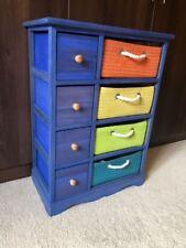 Mobilier de chambre pour garçons NEUF bleu osier unité stockage commode tiroir