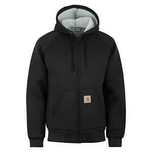 Carhartt wip car-Lux hooded Veste Noir - Thermique layer Veste à Capuche Noir