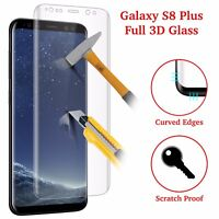Samsung Galaxy S8 PLUS 3D Full Curved Tempered Glass LCD Screen Protector Clear