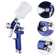 Mini Air Paint Spray Gun Auto Car Detail Touch Up Sprayer Gravity Repair Blue