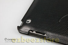 CHINAO Leather Smart Cover Case 4 Apple iPad 2 Black slim CA04-01