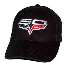 2013 Chevrolet Corvette C6 60th Anniversary Black Hat Cap SHIPPED FREE IN A BOX