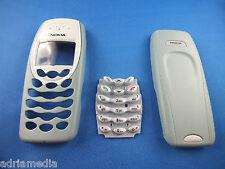 Original Nokia cover 3410 Front back Carcasa Teclado cáscara celular cáscara verde claro
