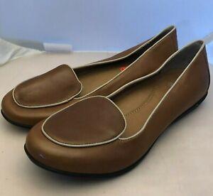 Dansko Nastacia Tan Nappa Leather Flat Loafer Comfort NEW Sz 41 EU 10.5 11 US