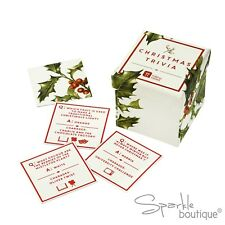 CHRISTMAS TABLE TRIVIA & CHARADES - Icebreaker Game - BOTANICAL XMAS HOLLY RANGE