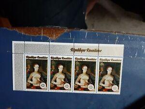 rwanda  strip 4  stamps MNH