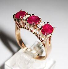 Three-Stone Ruby 14k Engagement Rings