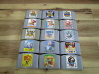 Nintendo 64 Lot of 15 piece Mario Kart Hoshi no Kirby N64 Japan p653