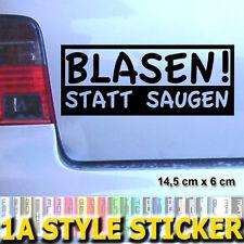 BLASEN STATT SAUGEN Turbo Aufkleber Turbolader garett k04 kw s3 s4 s6 rs 4 421