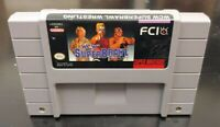 WCW Superbrawl Wrestling Flair Sting SNES Super Nintendo Game Tested / Authentic