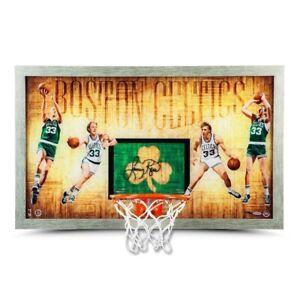 """Larry Bird Signed Autographed Framed Backboard """"Larry Legend"""" Celtics #/50 UDA"""