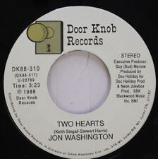 Country 45 Jon Washington - Two Hearts / One Dance Love Affair On Door Knob Reco