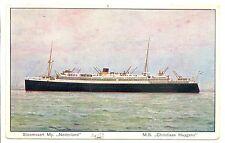 NEDERLAND  S.M.N. 1929 6-13 AK SHIP =M.S.CHRISTIAAN HUYGENS = PM- NO STAMP FINE
