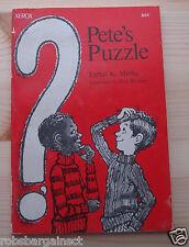 Vintage Rare Pete's Puzzle by Esther K. Meeks