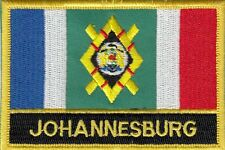 Johannesburg City South Africa Flag Embroidered Patch Badge - Sew or Iron on
