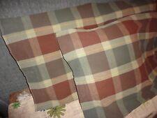 DIVATEX FLANNEL WARM AUTUMN WINTER PLAID BROWN GREEN (PAIR) KING PILLOWCASES